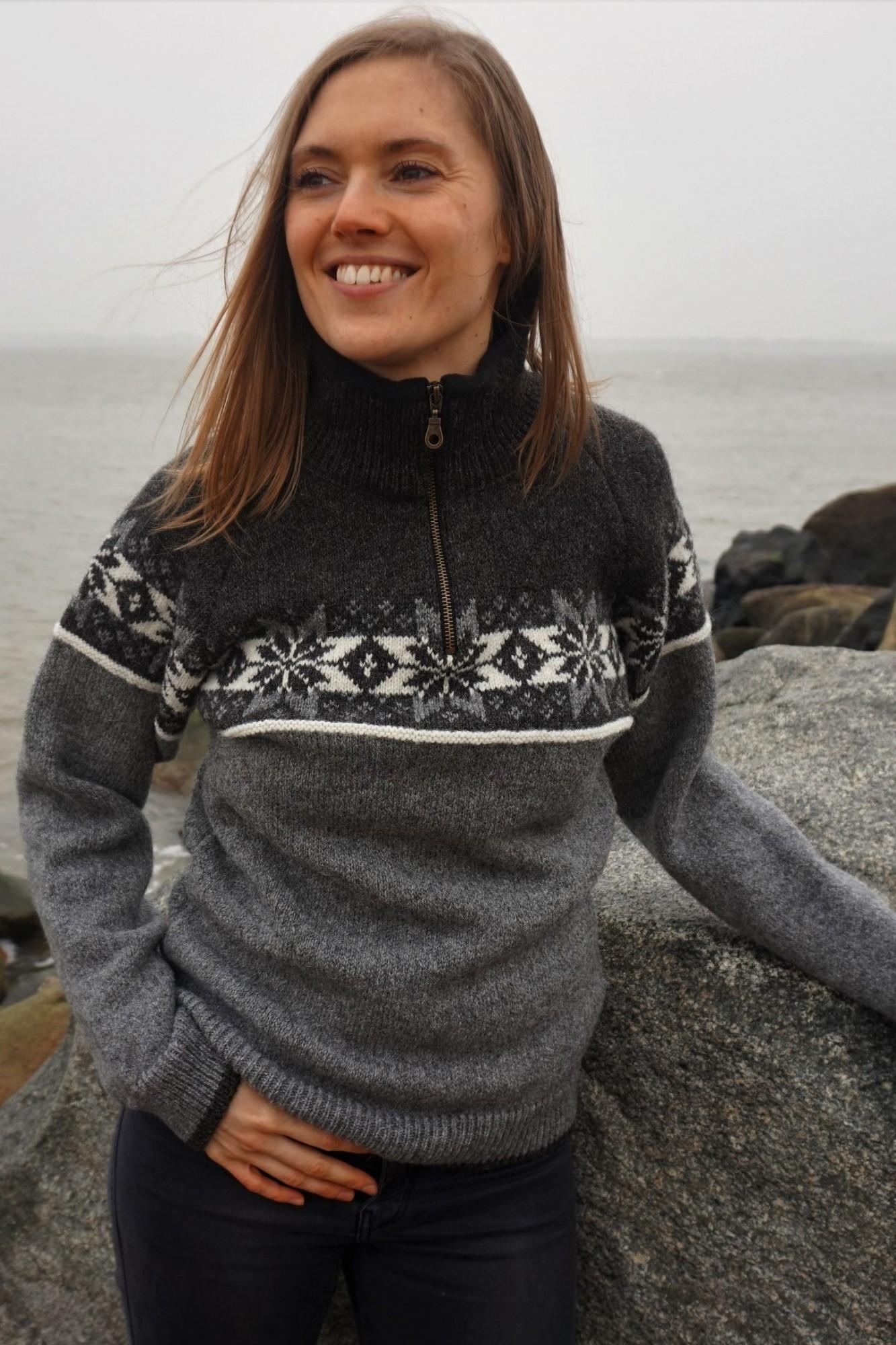 Echter norweger Pullover aus 100% Schurwolle mit Raglanärmeln
