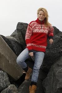 F r ischer pullover mit klassischem strickmuster aus for Norweger strickmuster