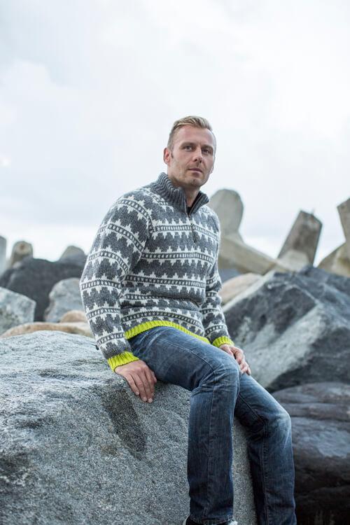 Original Norwegerpullover Marius von Norwool aus reiner wolle